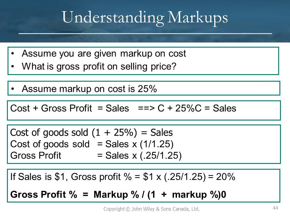 Understanding Markups