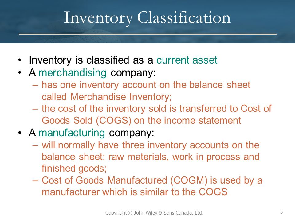Inventory Classification