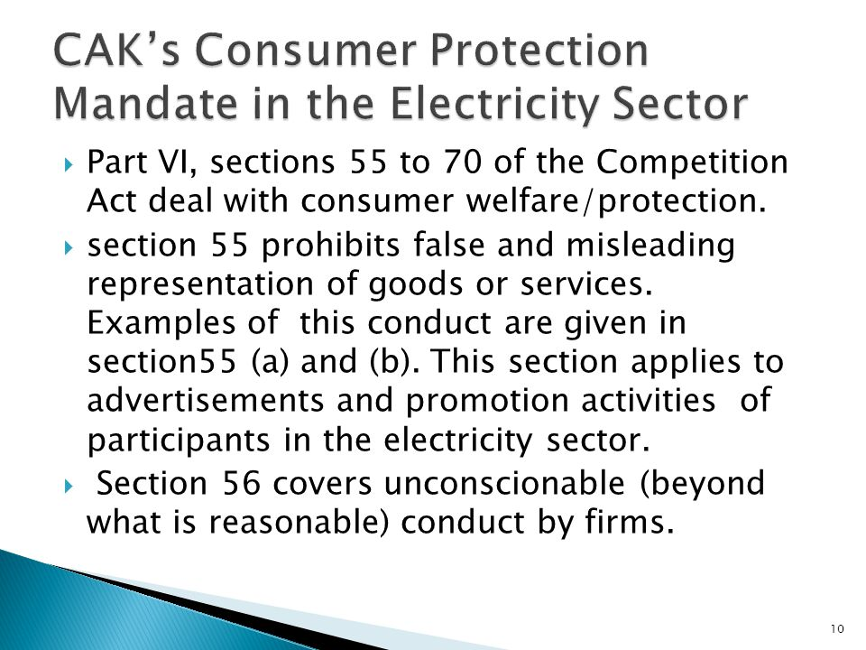 CAK's Consumer Protection Mandate in the Electricity Sector