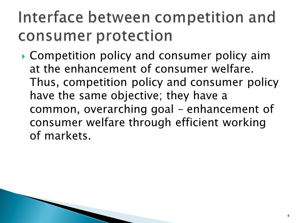 Interface between competition and consumer protection