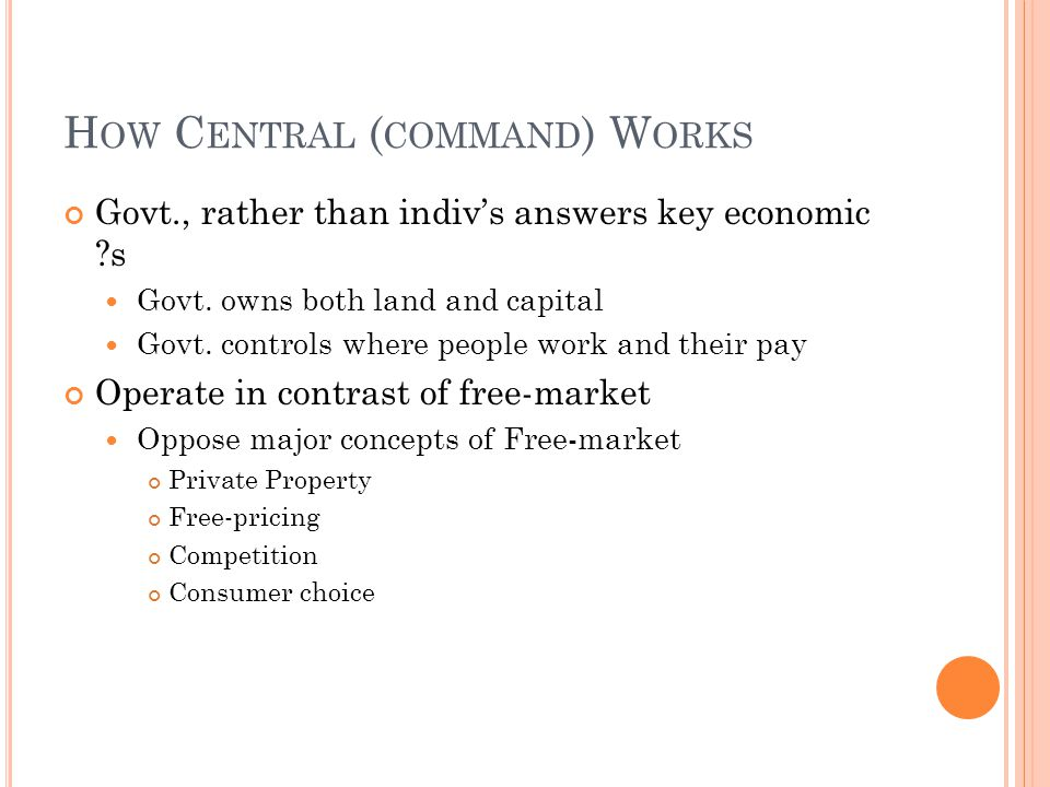 How Central (command) Works