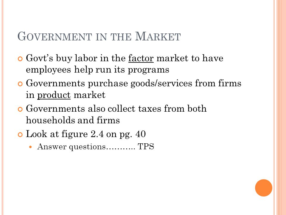 Government in the Market
