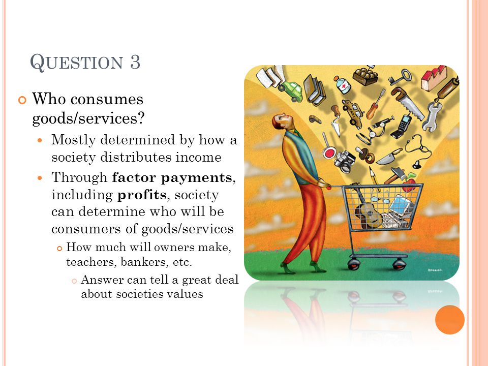 Question 3 Who consumes goods/services
