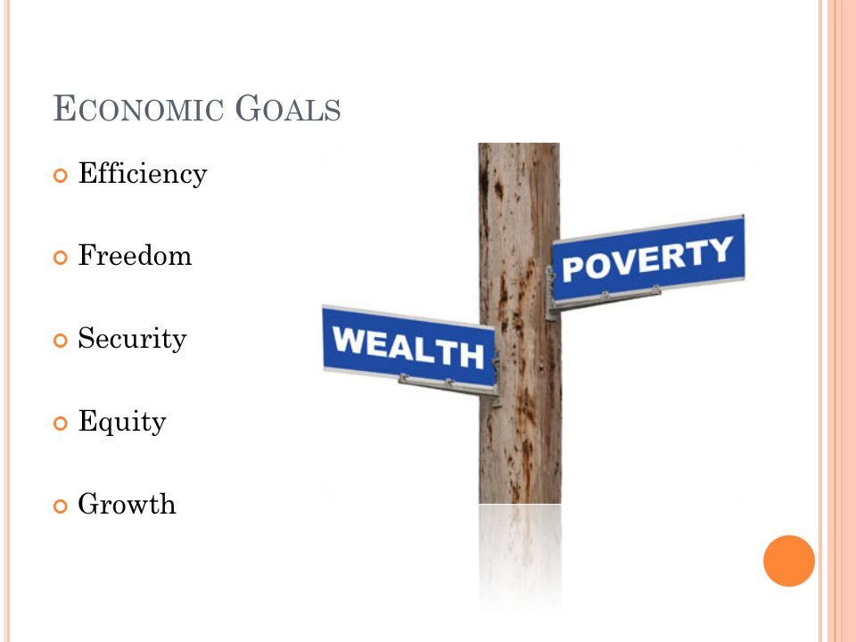 Economic Goals Efficiency Freedom Security Equity Growth