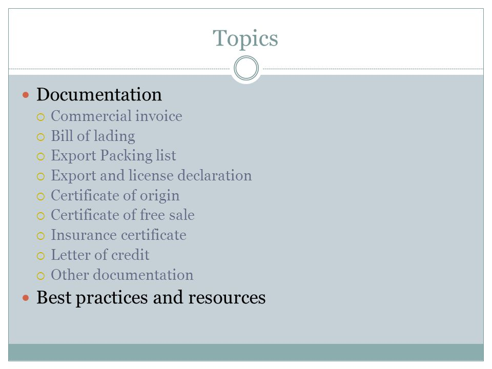 Topics Documentation Best practices and resources Commercial invoice