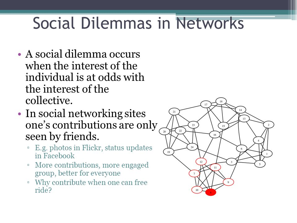 Social Dilemmas in Networks