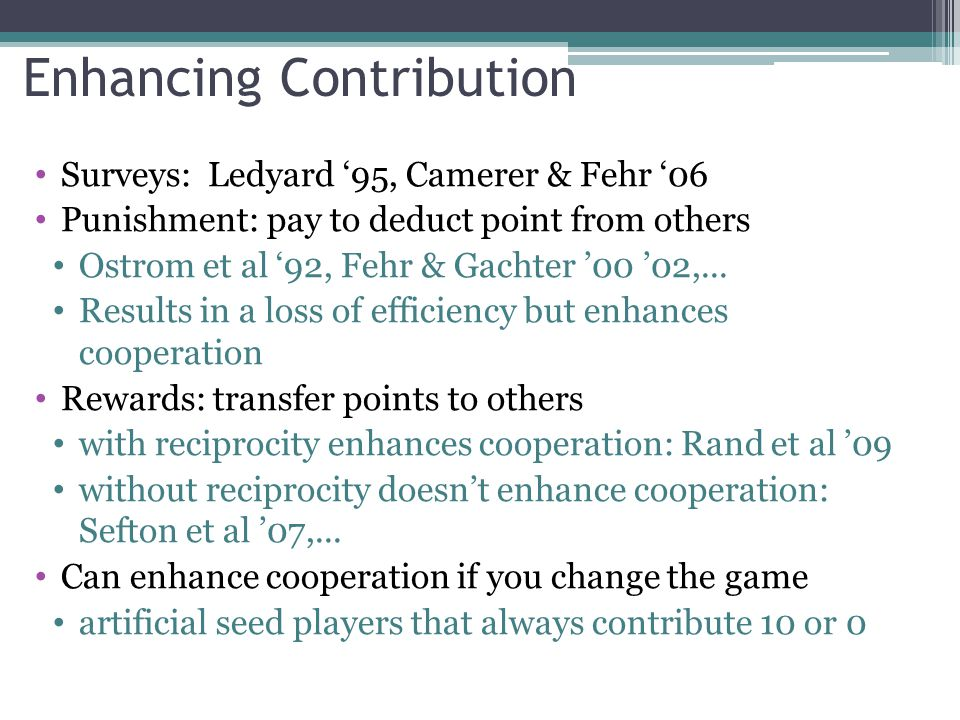 Enhancing Contribution