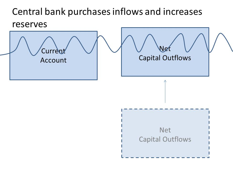 Central bank purchases inflows and increases reserves