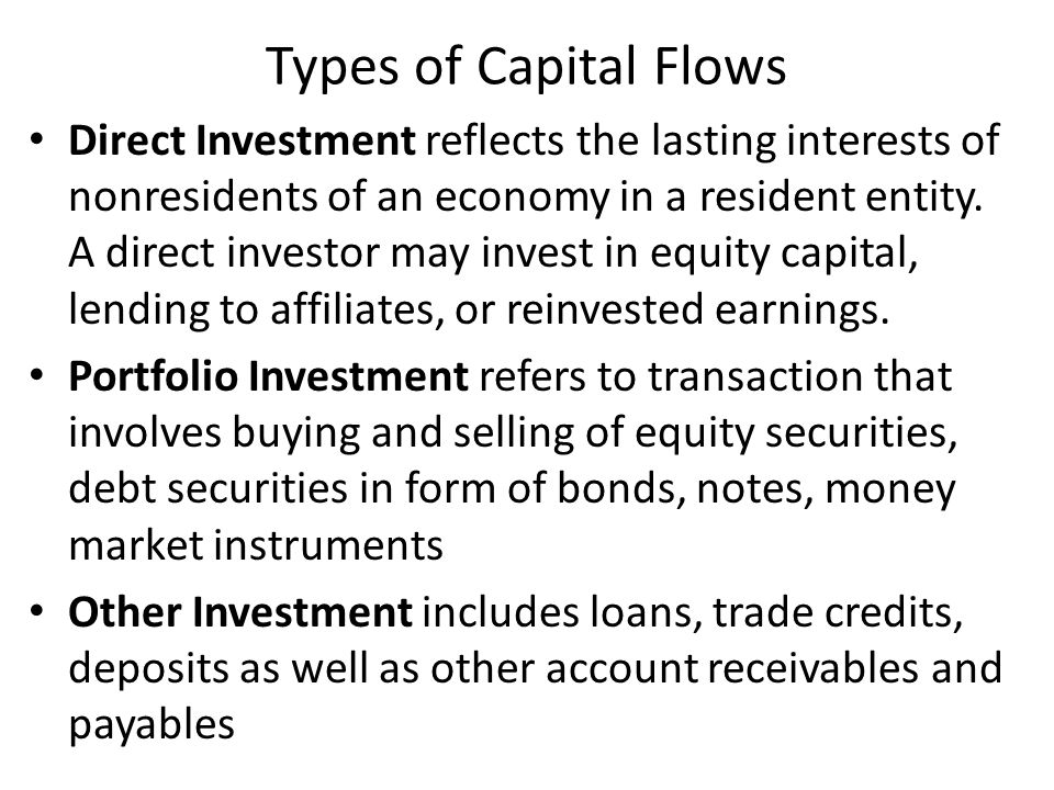 Types of Capital Flows