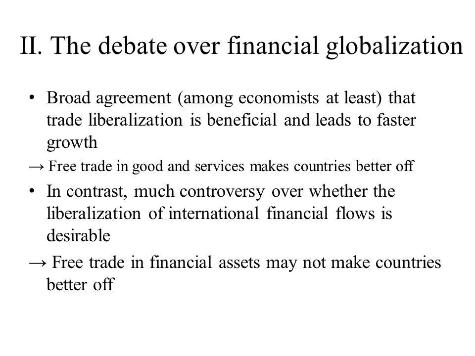 II. The debate over financial globalization
