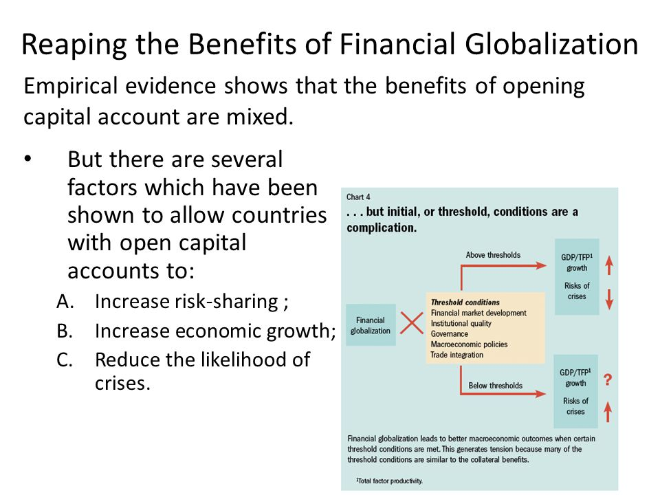 Reaping the Benefits of Financial Globalization