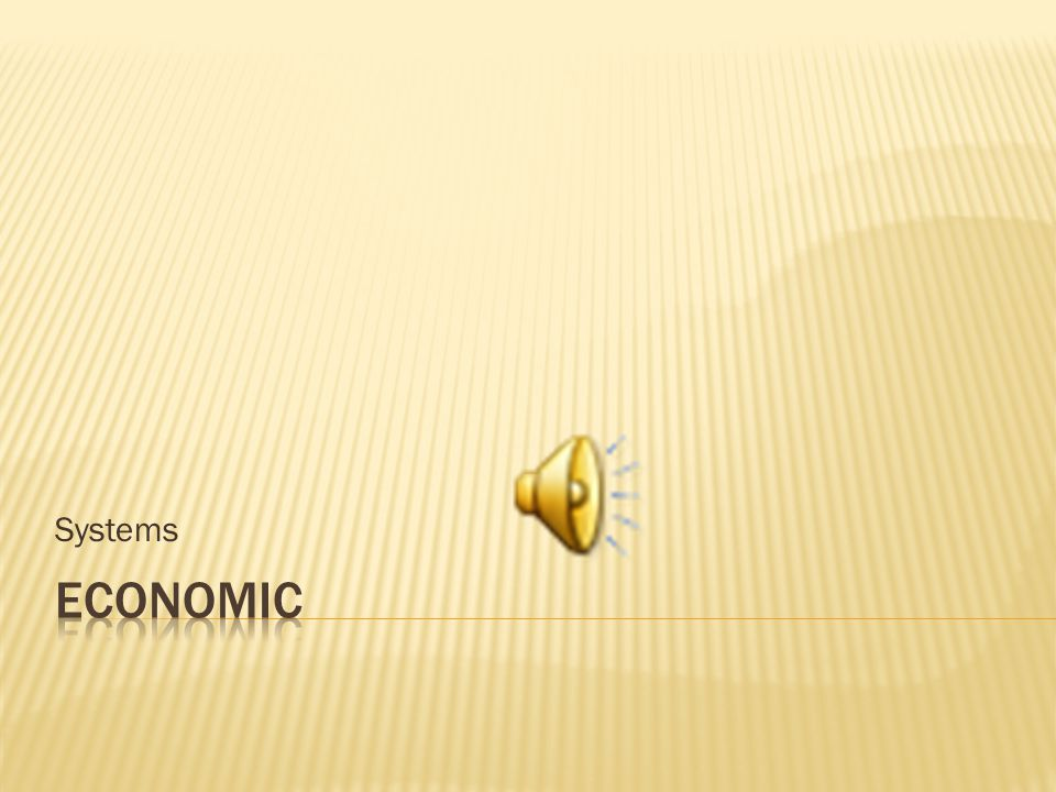 Systems Economic