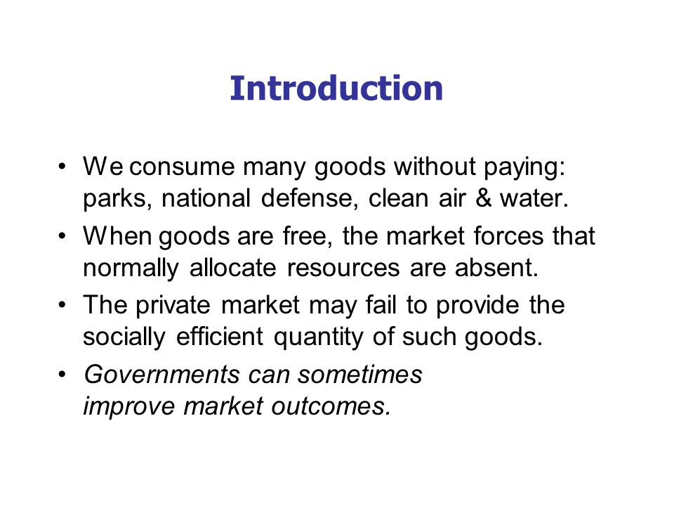 Important Characteristics of Goods