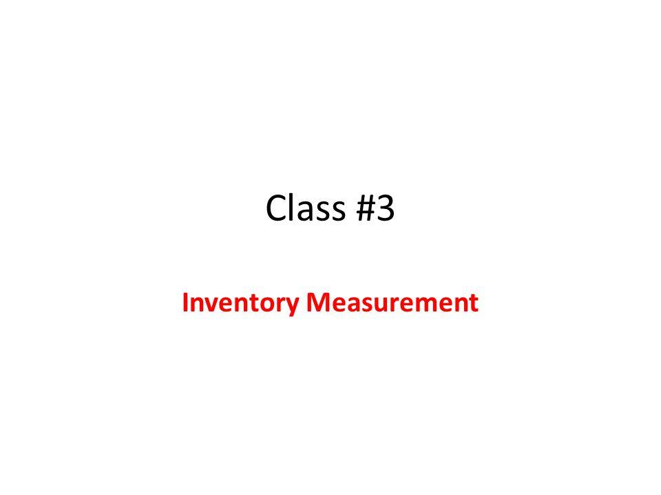 Inventory Measurement