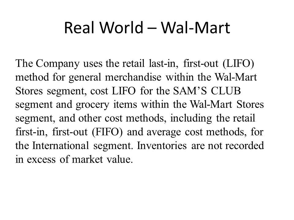 Real World – Wal-Mart