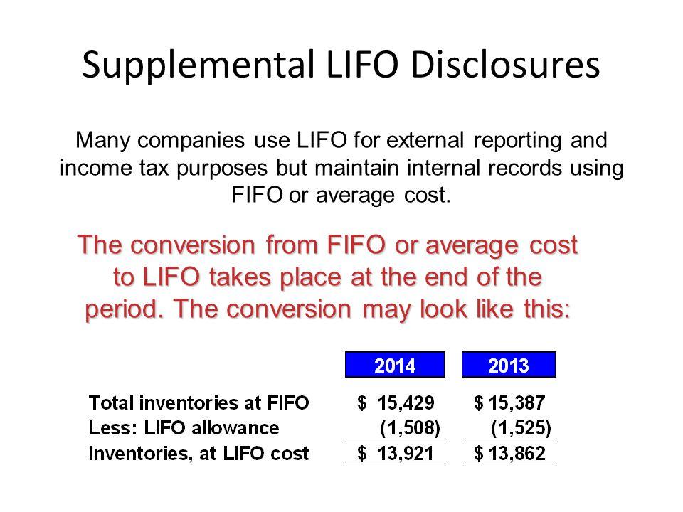 Supplemental LIFO Disclosures