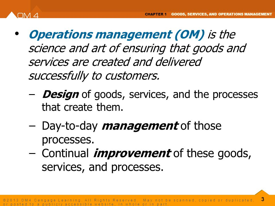 Day-to-day management of those processes.