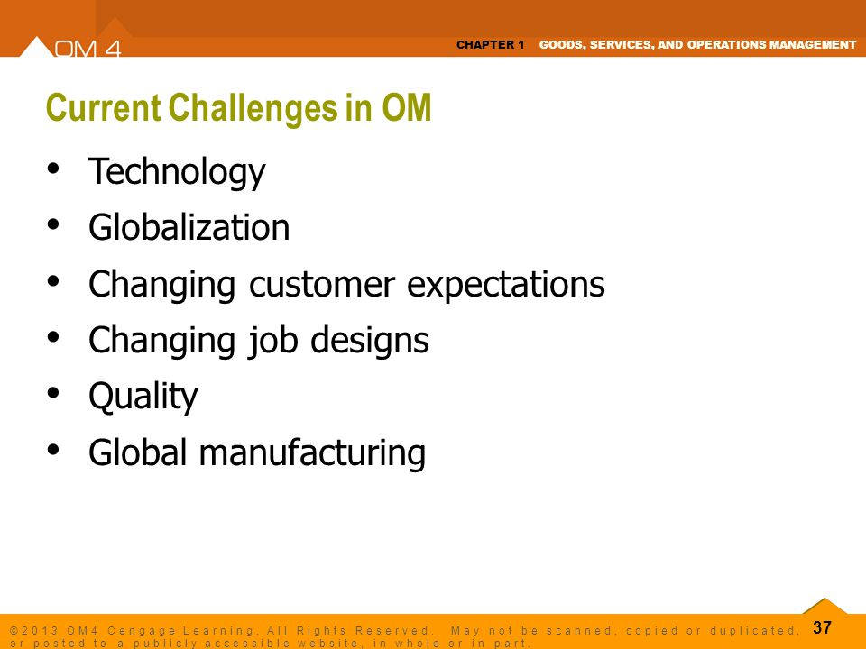 Current Challenges in OM