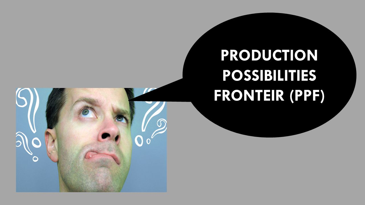 PRODUCTION POSSIBILITIES FRONTEIR (PPF)