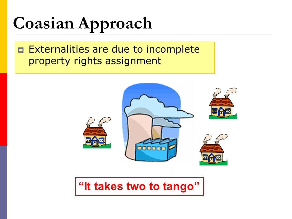 Coasian Approach It takes two to tango