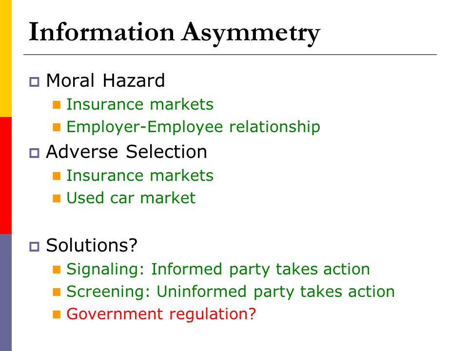 Information Asymmetry