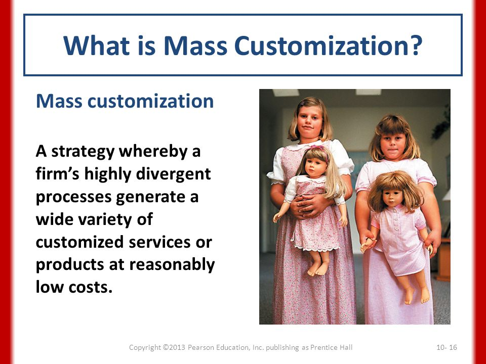 What is Mass Customization