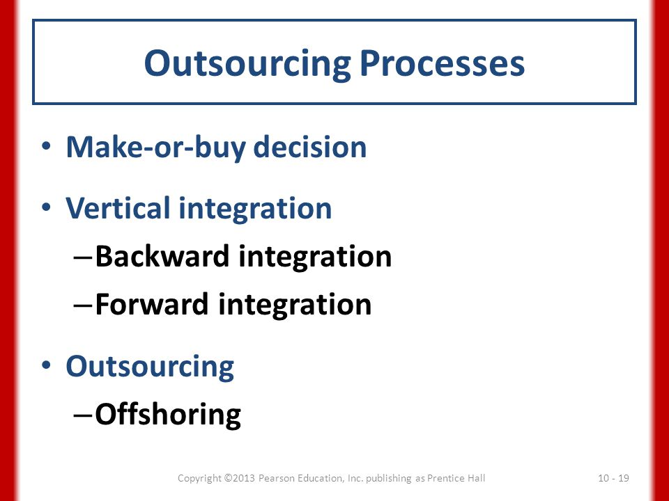 Outsourcing Processes