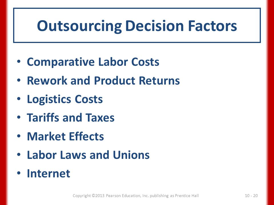 Outsourcing Decision Factors
