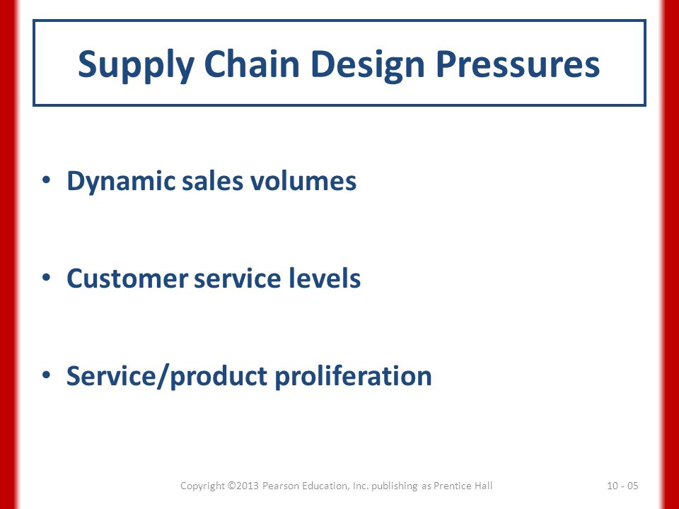 Supply Chain Design Pressures