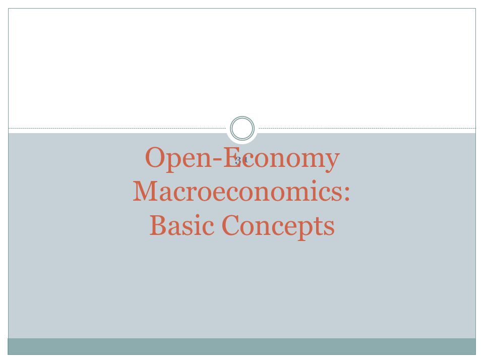 Open-Economy Macroeconomics: Basic Concepts