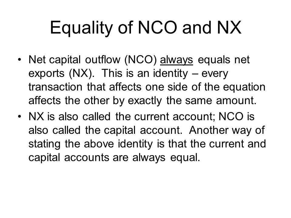 Equality of NCO and NX