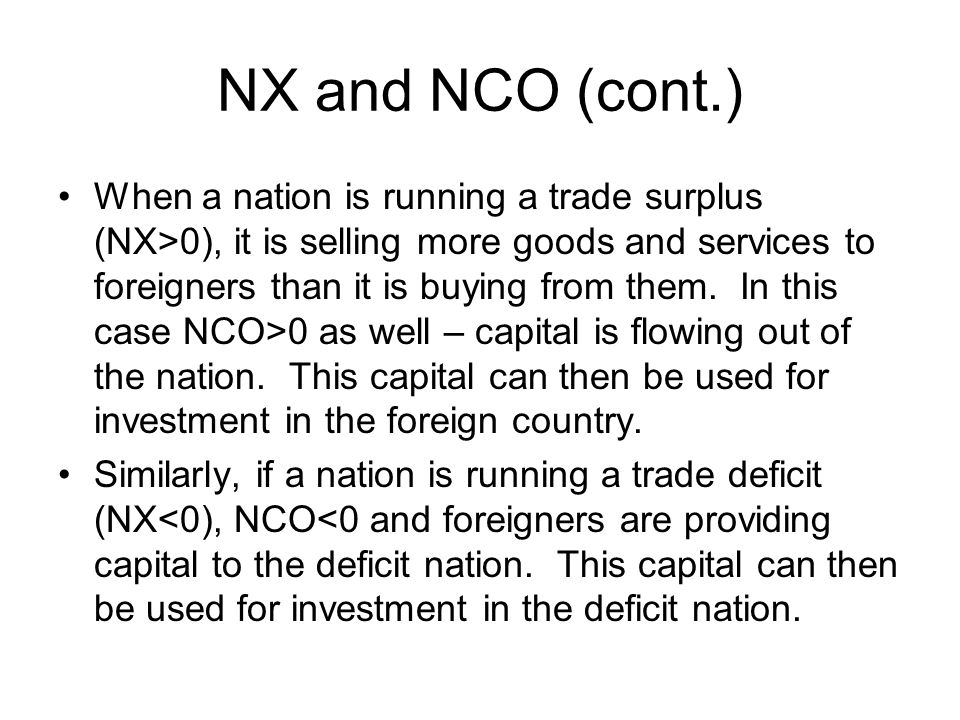 NX and NCO (cont.)