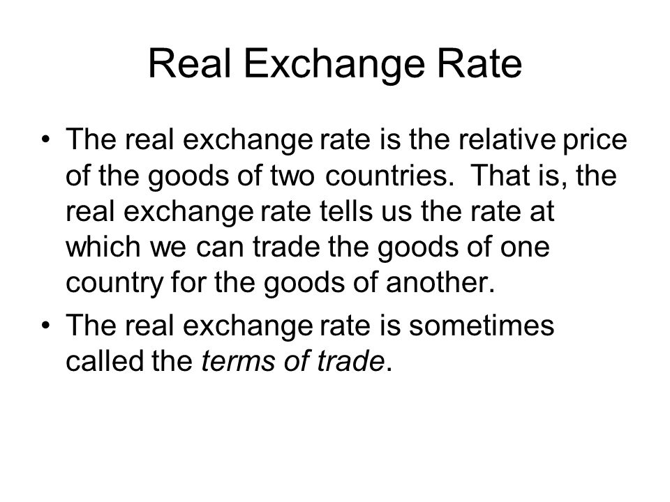 Real Exchange Rate
