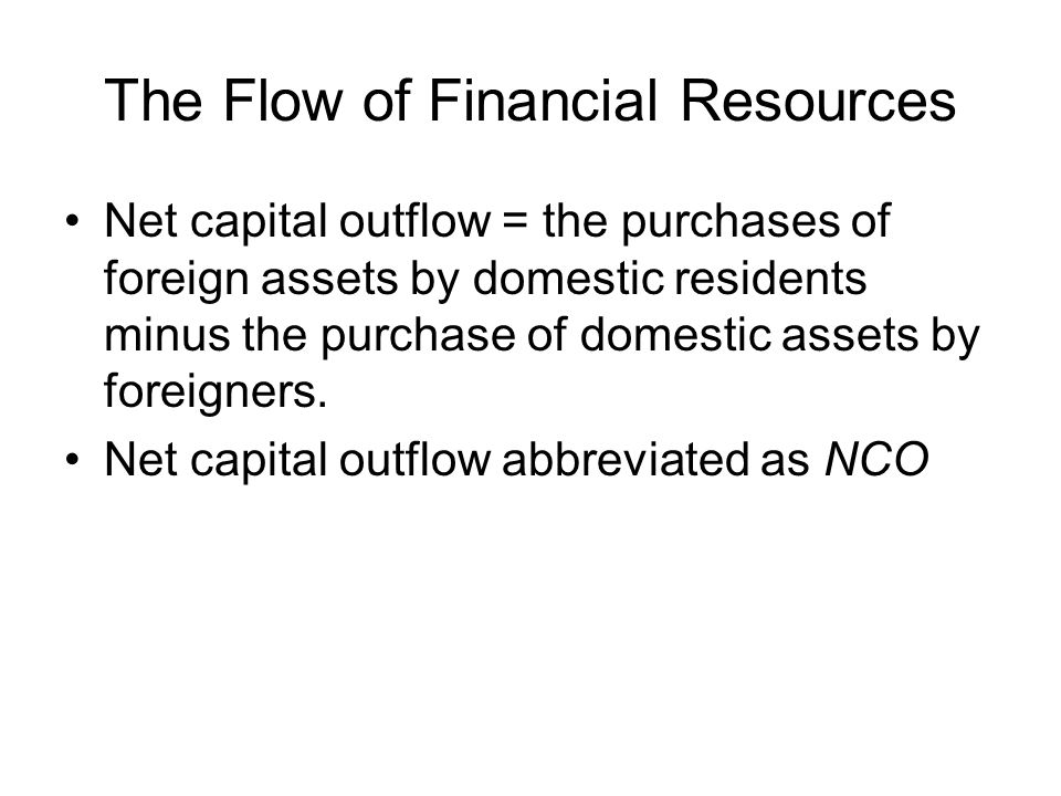 The Flow of Financial Resources