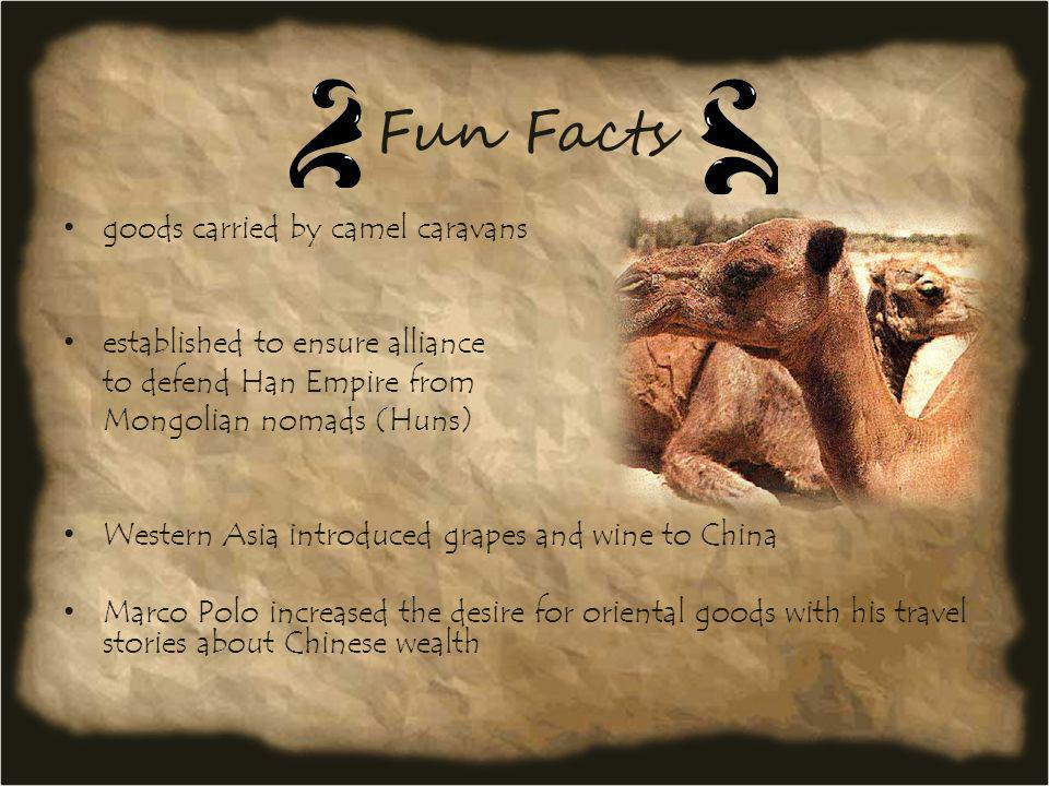 Fun Facts goods carried by camel caravans