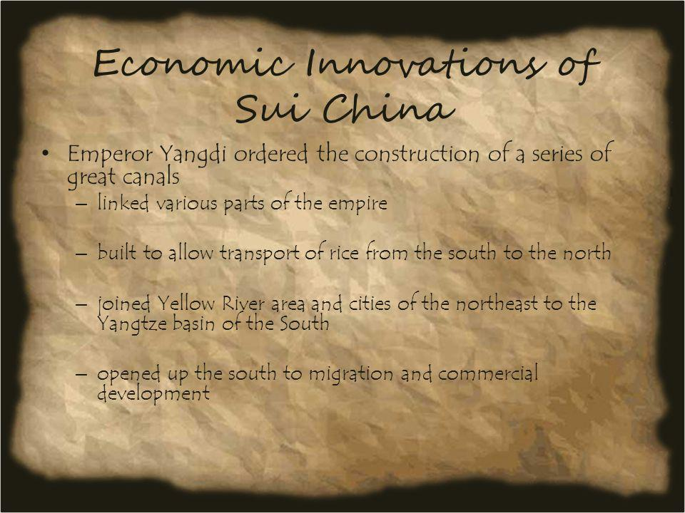 Economic Innovations of Sui China
