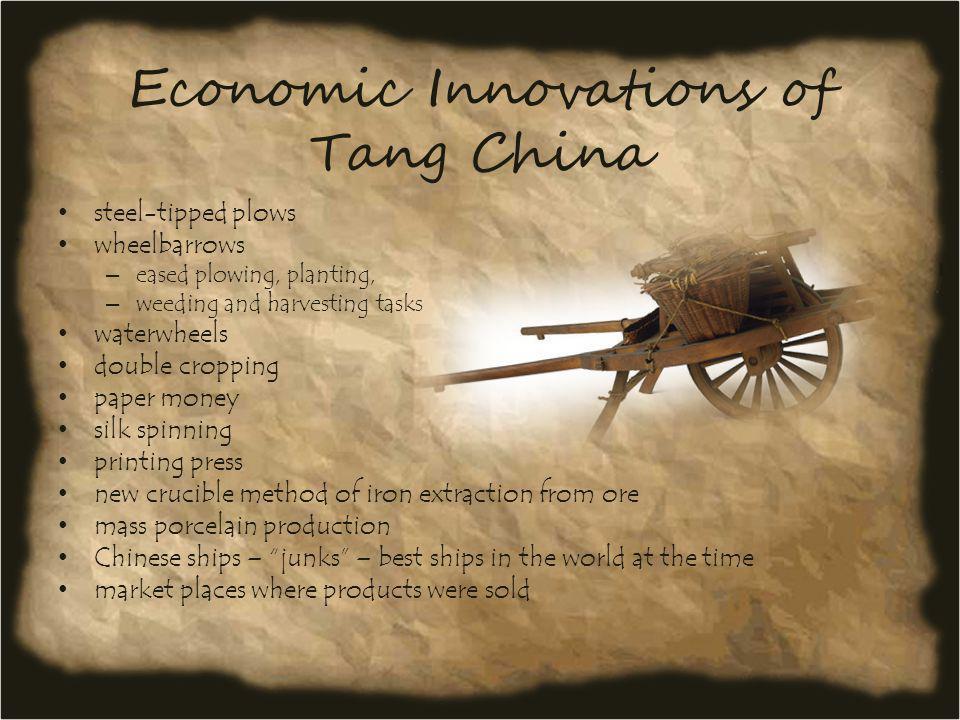 Economic Innovations of Tang China