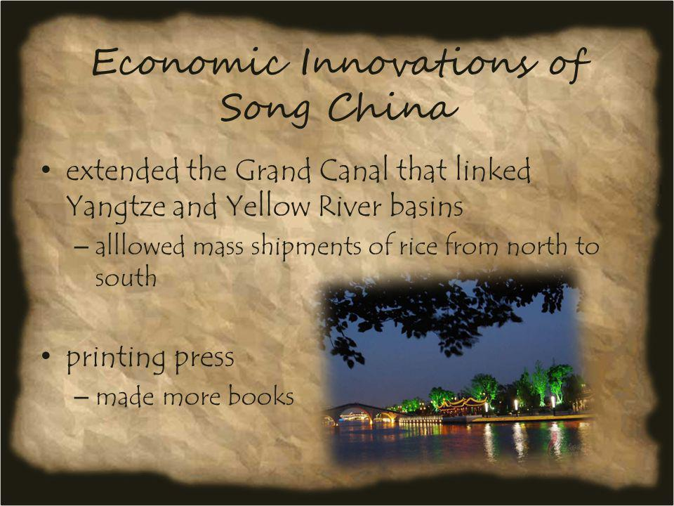 Economic Innovations of Song China