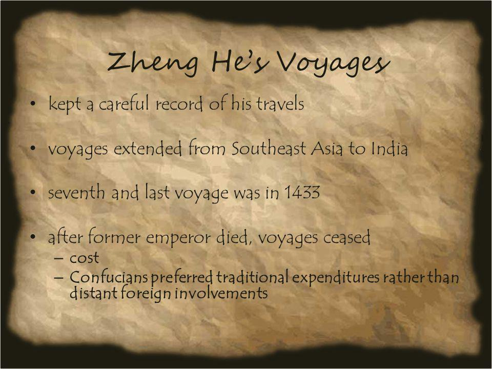 Zheng He's Voyages kept a careful record of his travels