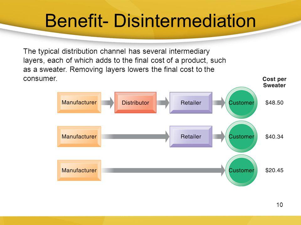 Benefit- Disintermediation