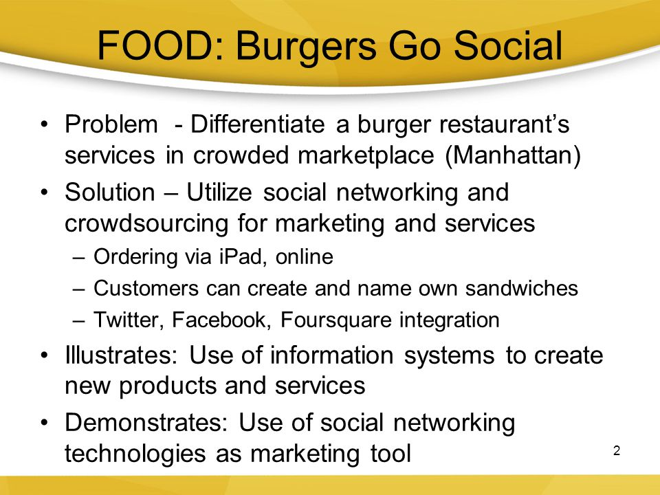 FOOD: Burgers Go Social