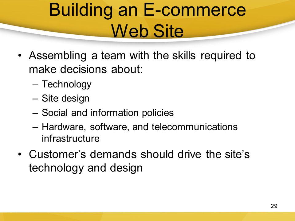 Building an E-commerce Web Site