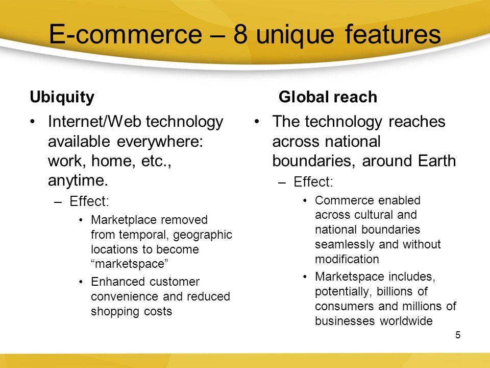 E-commerce – 8 unique features