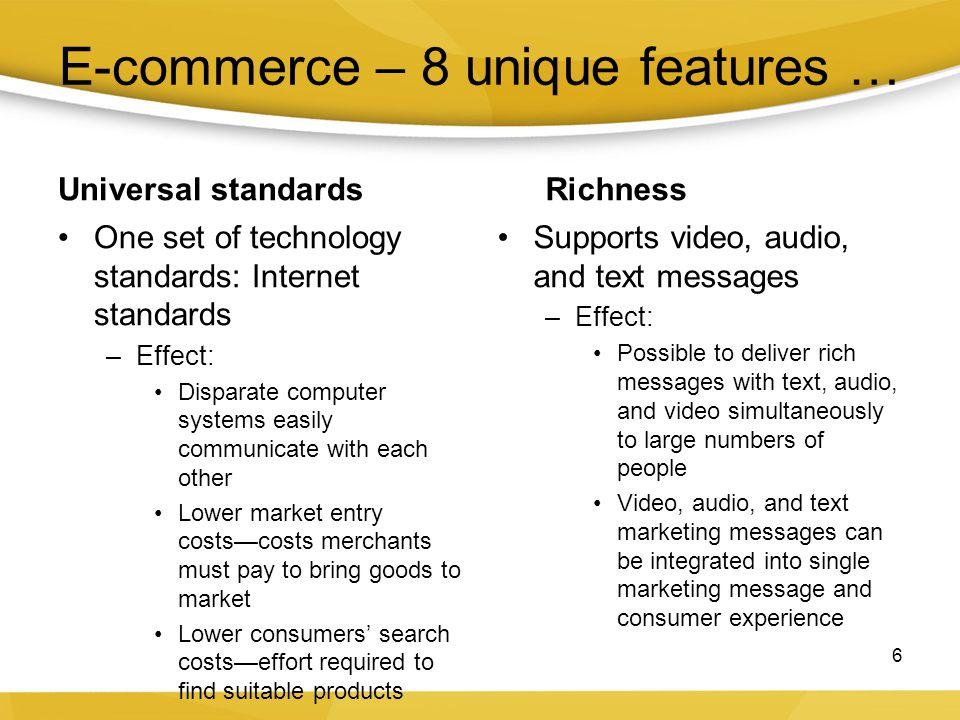 E-commerce – 8 unique features …