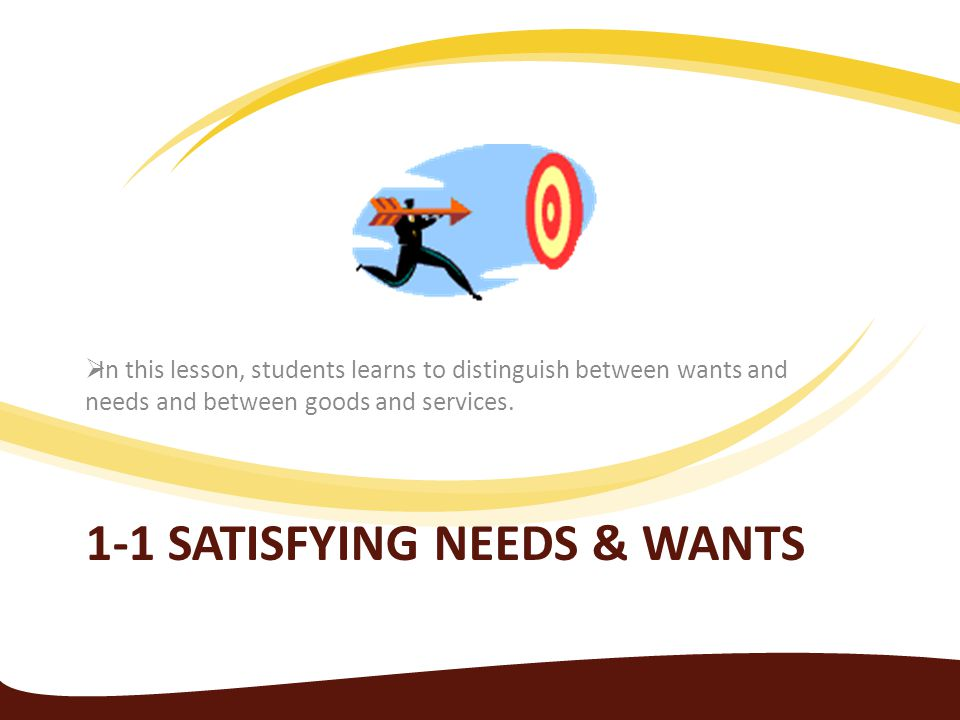 1-1 Satisfying needs & wants