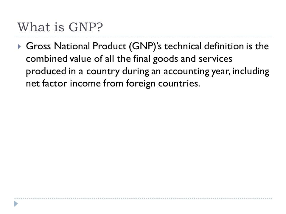 What is GNP