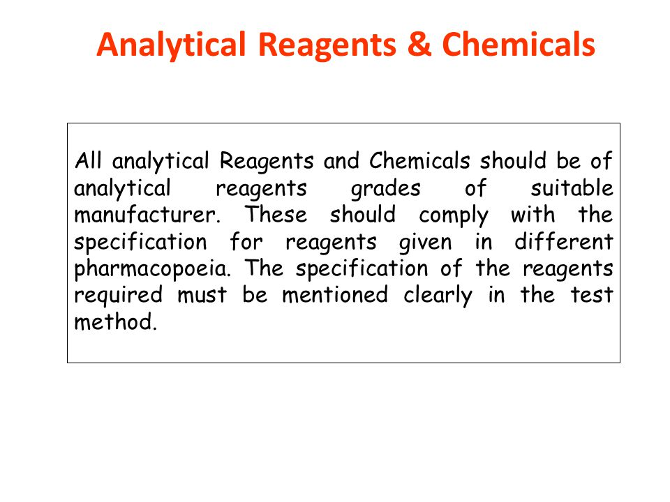 Analytical Reagents & Chemicals