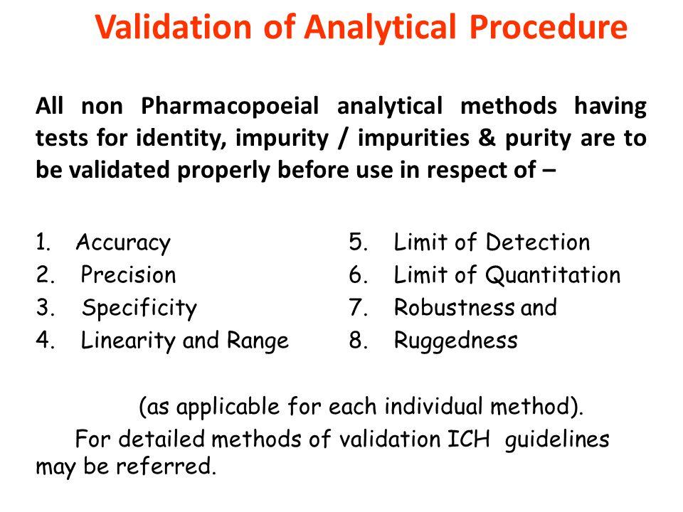 Validation of Analytical Procedure