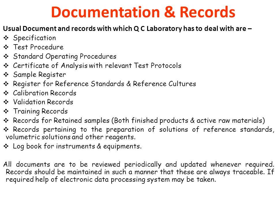 Documentation & Records