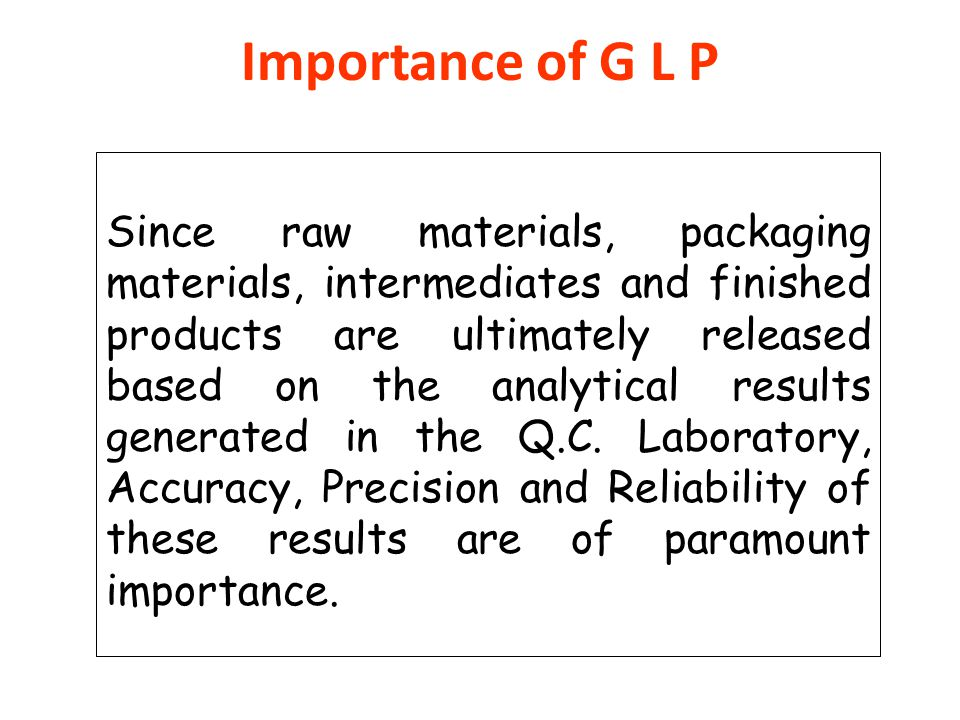Importance of G L P